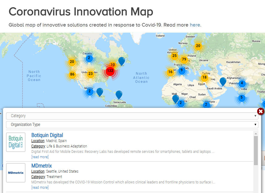 Coronavirus Innovation Map